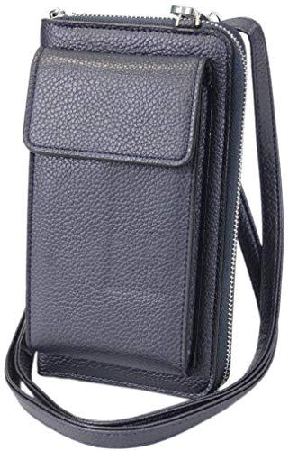 irisaa kleine Damen Umhängetasche Schultertasche - Crossbody Handtasche Geldbörse Handy Mini-Tasche Brieftasche mit Verstellbarem Schultergurt, Damen Tasche:Navy new