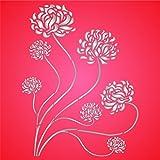 Plantilla de pared reutilizable asiática de crisantemo para mamás orientales, uso en proyectos de papel, álbumes de recortes, diarios, paredes de suelo, tela, muebles, vidrio, madera, etc. small