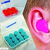 Silicone Putty Moulded Ear Plugs by Sleepytime,Blue Soft Sticky Plugs Which Mould Into