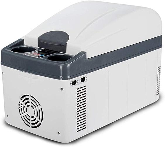Glacière électrique portable Cool Box, Boîte de Chauffage et de Refroidissement à Double Usage Car Home, 20L (Blanc)
