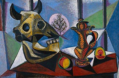 Das Museum Outlet–Bull _ Totenkopf, _ Fruit, _ Krug _ von _ Picasso, gespannte Leinwand Galerie verpackt. 40,6x 50,8cm