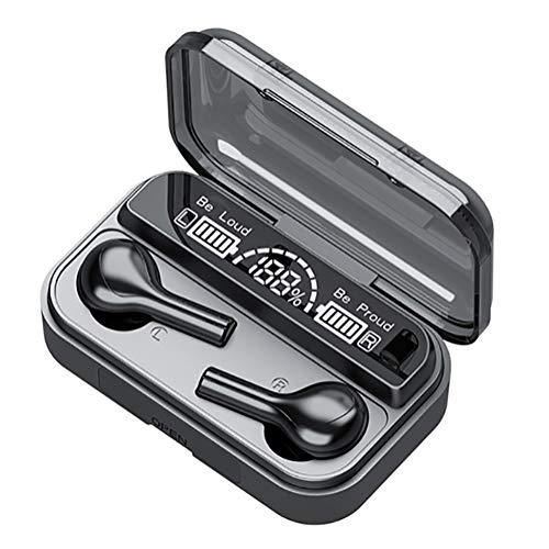 Wireless Earbuds, HiFi Noise Reduction Touch Control Waterproof Wireless Earphone with Charging Case/Build-in Mic/Led Display, for Sports, Gaming, Office