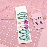 AOXQ CN - Juego de 12 clips para el pelo con purpurina BB para niñas, mini horquillas para el pelo, hechos a mano, accesorios para el pelo, 8