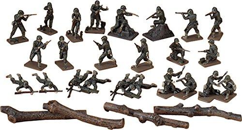 Figurines 2ème Guerre Mondiale : Equipe de combat Infanterie US