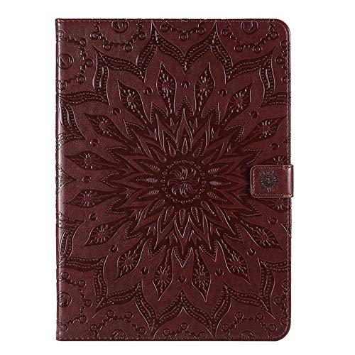 MAXJCN Funda para teléfono con diseño de girasol, de piel sintética, compatible con iPad Pro de 11 pulgadas 2020 (color: marrón)