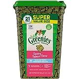 FELINE GREENIES Natural Dental Care Cat Treats, Salmon Flavor, All bag sizes