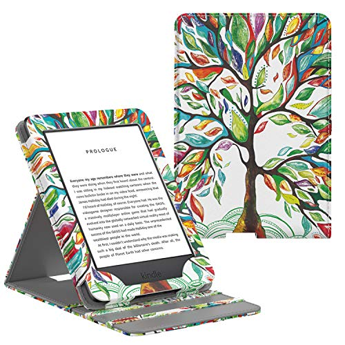 MoKo Case Fits All-New Kindle (10th Generation - 2019 Release Only), Vertical Flip Protective Cover with Auto Wake/Sleep, Will Not Fit Kindle Paperwhite 10th Generation 2018 - Lucky Tree