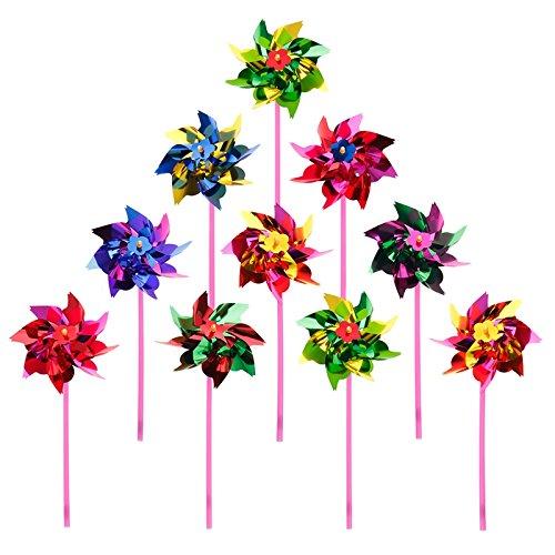 MLFL 10 unids de Molino de Viento plástico Molino de Viento Viento Spinner niños Juguete jardín césped Fiesta decoración decoración Gota Barco