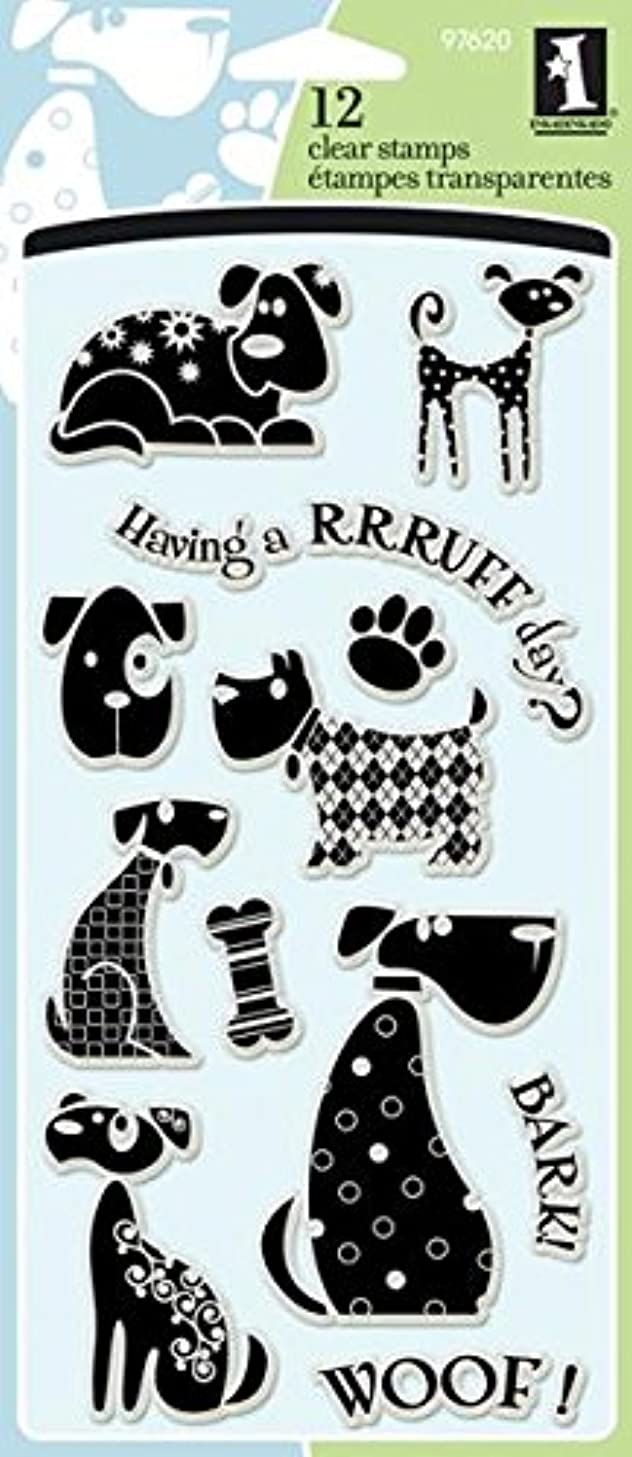 Inkadinkado Clear Dog Stamp Set for Scrapbooking and Card Decorating, 12pc