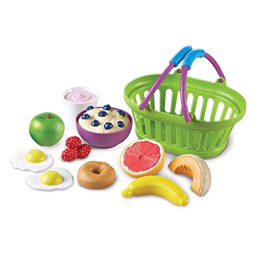 Learning Resources New Sprouts Healthy Breakfast, Play Food, Play food for Kids, 11 Pieces of Play Breakfast Food, Ages 18mos+
