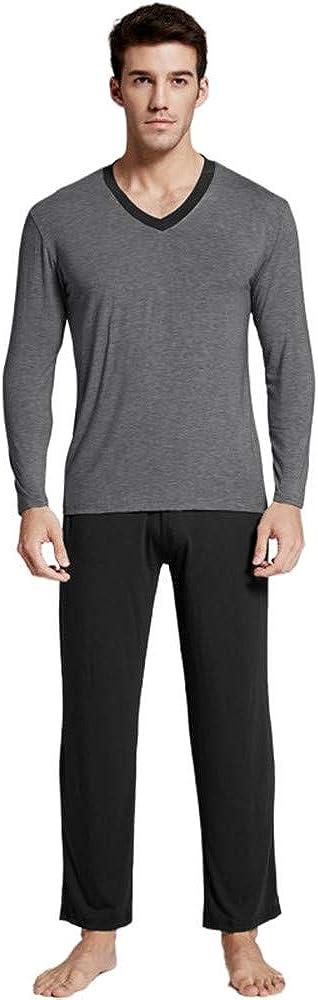 7 VEILS Men's Soft Modal 2 Piece Pajamas Set Pjs Sleepwear Lounge Set Nightwear
