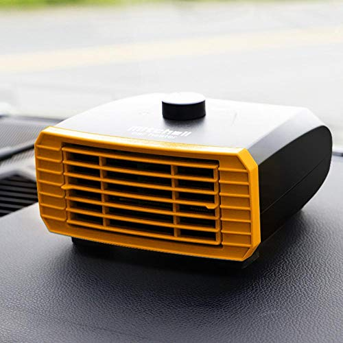 mooderff Auto Heizung: Elektrische Kfz-Zusatzheizung 12V/24V, Warm/Kalt Auto Heizung Lüfter, Tragbarer Schnellheizungs Defogger 15 16cm