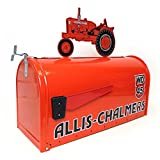 Allis Chalmers WD-45 large steel mailbox with tractor on top by Distel Grain Systems,Inc