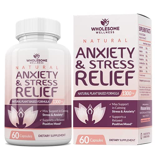 Happy Pills Natural Anti Anxiety Relief & Depression Supplement | Dopamine Mood Boost, Serotonin Support, Relieve Stress, Calm Relaxation Enhancer | Best PMS Supplements for Women | 60 Capsules
