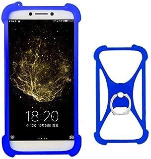 7183cce08fb LANKASHI Azul Funda de Silicona Case Ring Stand Holder Dedo Agarre Soporte  Protectora Carcasa Cover para