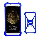 Lankashi Blue Stand Ring Holder Design Soft Silicone Mobile