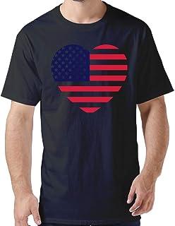ZYXcustom DIY America Heart T-Shirt for Men