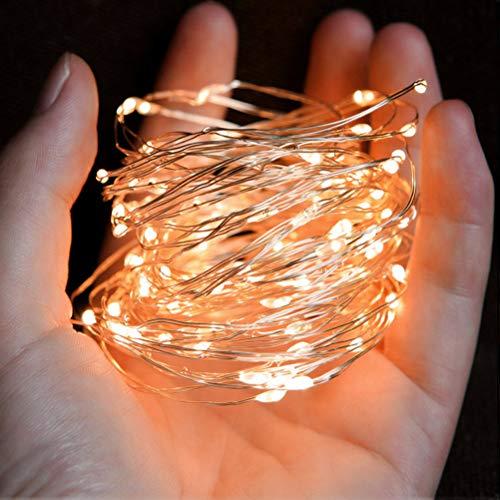 ATPWONZ 10M Led Lichterkette 100er USB Lichterkette Stimmungslichter für Zimmer, Innenraum, Party, Hochzeit, Weihnachten usw - Warmweiß