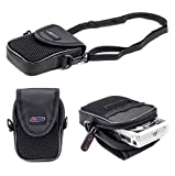 Digicharge Kompaktkamera Kameratasche für Sony Cyber-Shot DSC-J DSC-T DSC-TX DSC-WX DSC-W Serie Kamera Tasche Case mit Tragegurt