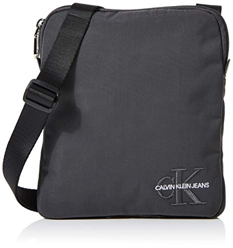Calvin Klein heren Monogram Nylon Micro Flatpack zakorganizer, 2x21x18 cm