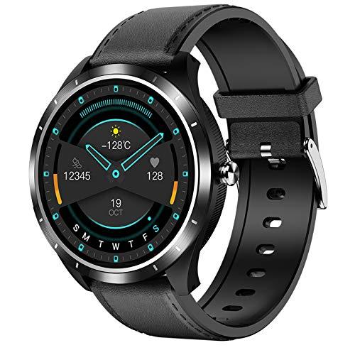 LVYE1 MRMF Smartwatch Mujeres Hombres, Pulsera De Actividad ECG Fitness Tracker Impermeable IP68 Reloj Inteligente con Muñeca Pulsómetros Podómetro Caloría Reloj Deportivo para Android iOS,A