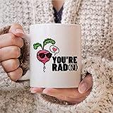 Taza de café con texto en inglés 'You are Rad Present Youre Radish', divertida taza vegana, regalo de amigo vegetariano, 325 ml, taza de café o té Festival