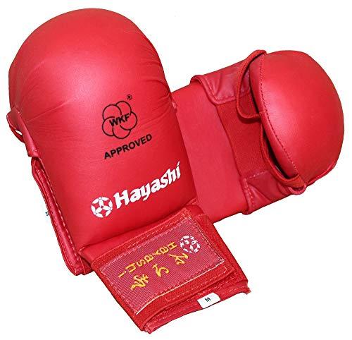 """Hayashi Karate Faustschützer """"TSUKI"""" WKF Approved Handschützer (rot, L)"""