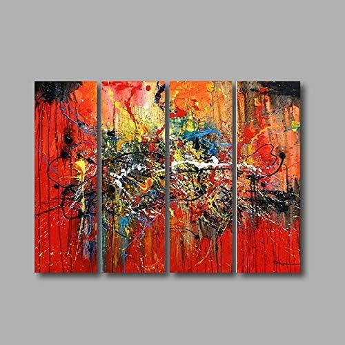 JINTAIYANG Peinture à l'huile 100% Peints à La Main Huile Abstraite Toile Moderne Mur Art Mur Salon Chambre Décor à La Maison