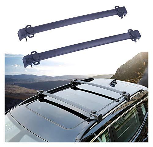 XIAOZHIWEN Carrier de Aluminio de Aluminio Carril de Equipaje Tabla de Equipaje Rail Barra de Techo Barras Cruzadas para Jeep- Compass 2017-2020 (Color : Black)