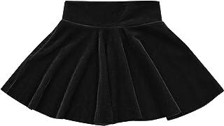 GOOCHEER Infant Toddler Baby Girl Pleated Skirt Velvet High Waist Mini Skirt Fall Warm Princess Skirt Casual