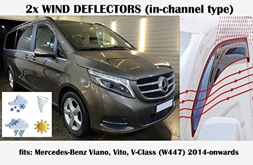 Mrp Windabweiser für Mercedes Benz Vito Viano V-Klasse W447 2014 2015 2016 2017 2018 2019 2020 Acrylglas Seitenvisier PMMA-Fensterabweiser