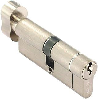 Securit anti-fijación/antigolpes/taladro/bombín de con botón giratorio niquelado 40