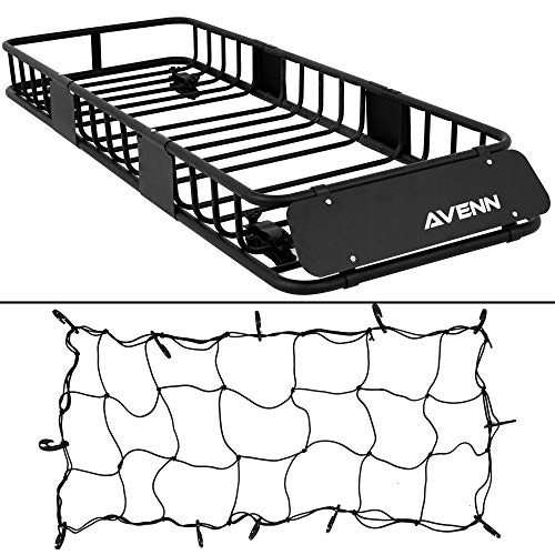 """AVENN 64"""" x 23"""" x 6"""" Skinny Roof Rack Cargo Carrier 150 Lbs Capacity Top Luggage Holder Basket for SUV Pickup Car Camping"""