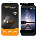 (2 Pack) Supershieldz for ZTE Zmax Pro Tempered Glass Screen Protector, (Full Screen Coverage) 0.33mm, Anti Scratch, Bubble Free (Black)