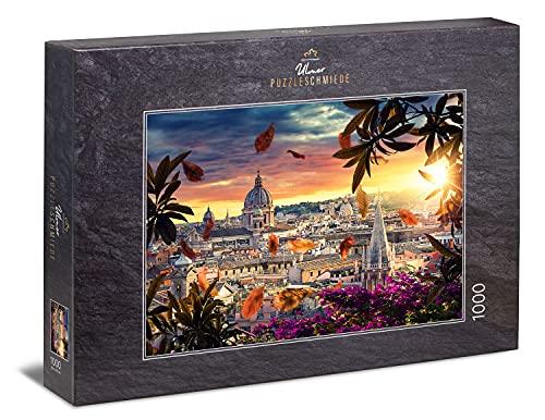 Ulmer Puzzleschmiede - Puzzle 'Vista su Roma' - Un motivo pittoresco di Roma che è buono per i puzzle