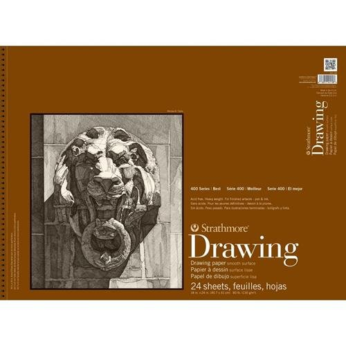 Strathmore (400-108) 400 Series Drawing, Smooth Surface, 18 by 24', 24 Sheets