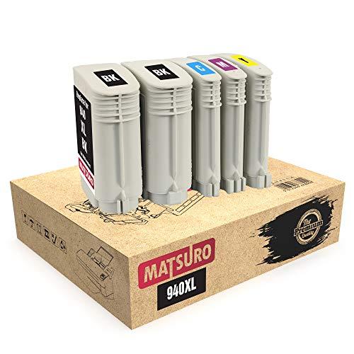 Matsuro Originale | Compatibili Cartucce Sostituire Per HP 940XL 940 XL (1 SET + 1 BK)