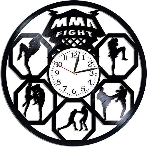 TIANZly Fighting Room Art Vinyl Retro Record Reloj de Pared