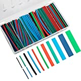 Eventronic 200pcs Heat Shrink Tubing Kit, Heat Shrink Tubes Wire Wrap, Ratio 2:1 Electrical Cable Sleeve Assortment with Case, Electric Insulation Heat Shrink Tube Kit (4 Colors/7 Sizes)