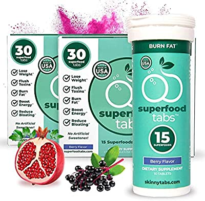 Superfoods Company Superfood Tabs, Berry Flavor, Vegan, Daily Health Support, Boosts Energy and More, Various Pack Sizes