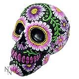Nemesis Now Schädel mit Blüten- und Blumenmotiv, Spardose, Tattoo-Geschenk, Biker, Goth, New Bedlam