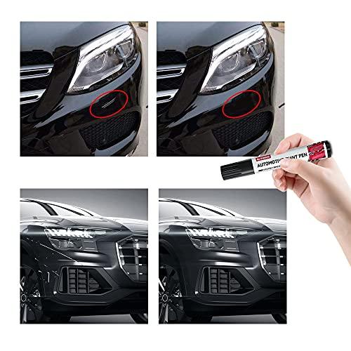 Siviki Fill Paint Pen Car Scratch Repair Black Touch Up Paint Special-Purpose Paint Touch-up Pen Multi-Color Optional for Various Cars (Black)