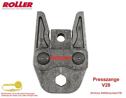ROLLER/REMS Pressbacke Presszange V28, Ø28mm, für Edelstahl, Kupfer, uvm, Rückverfolgbarkeit gemäß EN 1775:2007