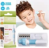 Ear Wax Removal Kit, Electric Earwax Cleaner Tools, Ear Vacuum Cleaner Easy Earwax Remover Soft Prevent Ear-Pick Clean Tools Set with LED Light for Kids