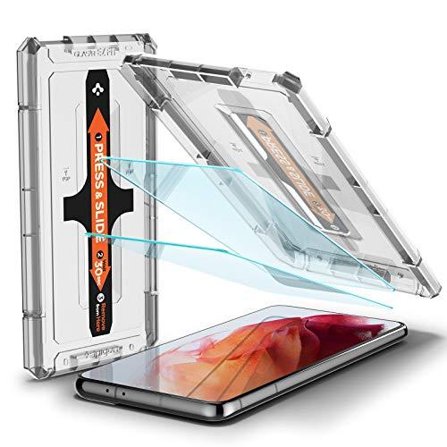 Spigen Glas.TR Ez Fit Vetro Temperato Compatibile con Samsung Galaxy S21, 2 Pezzi, Resistente ai Graffi, Durezza 9H Pellicola prottetiva