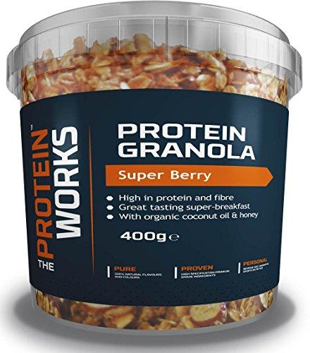 Granola Proteica, Super bayas | 400 g | El desayuno fitness perfecto