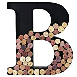 Metal Wine Cork Holder Monogram Decorative Wall Letter (B)