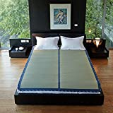"MIINA Japanese Traditional Igusa (Rush Grass) Tatami Mattress, Sleeping Mat, Japanese futon Mattress, Goza Mat (Full_XL, Natural) 59"" X 79"""