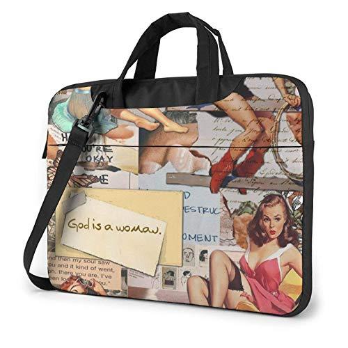 Bolso para computadora portátil, Tableta, Estuche de Transporte para computadora portátil para Mujeres estadounidenses de Moda, Bolso de Transporte, Funda para computadora portátil