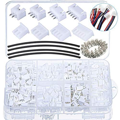 beihuazi® 570Stk JST XH Stecker Buchse Kit 2,54mm JST Steckverbinder/Connector 2/3/ 4/5Pin JST Adapter Kabel Stecker Buchse Männlich und Weiblich